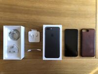 EXCELLENT CONDITION Apple iPhone 7 Plus 128GB Matte Black - BOXED WITH APPLE CASE - FACTORY UNLOCKED