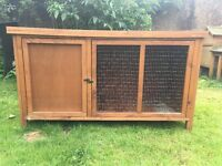 2 Rabbit Hutches, One with Run will sell separate or together