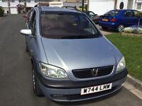 Vauxhall zafira 1.8 elagance 2000 facelift model 5 door 7 seat mpv people carrier mot end august