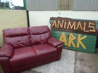 Leather 2 Seat Sofa Delivery Available £20