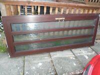 Mahogany UPVC back door and frame