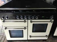 Rangemaster kitchener 110 Dual Fuel with Extractor Hood in excellent condition