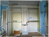 Built in wardrobe with mirror sliding doors