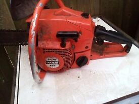Dolmar 117 German Chainsaw. Petrol Chainsaw