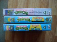Teenage Mutant Ninja Turtles cartoon episodes on VHS Video 3 videos altogether