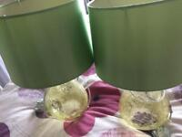 Pair of table lamps.