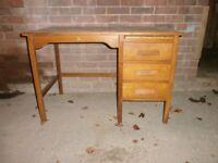 Vintage 1040's/1950's oak desk/table/cupboard, ideal for restoration