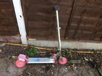 Child's pink scooter for sale