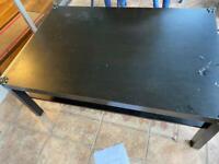IKEA lack black coffee table // kids safe