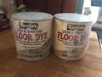 English oak floor dye