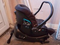 Joie baby car seat and isofix base