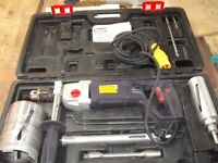 sparky BUR2 350E 16mm core drill 110v c/w 3 diamond cores & carry case used once