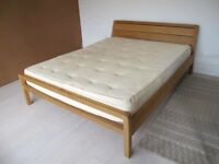 Habitat RADIUS kingsize bed. Very good condition, made from solid oak. 75% less retail price £795.
