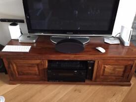 M&S TV Cabinet unit Solid Sheesham Wood