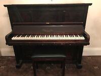 Elmore and Son, London Upright Piano and Yamaha Piano Stool