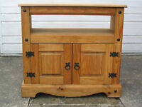 TV stand, cabinet style, solid wood