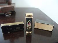 1950s Petit Point Lipstick Case with Mirror