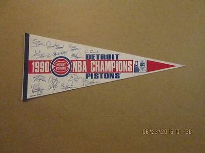 NBA Detroit Pistons 1990 Champions Facsimile Pennant