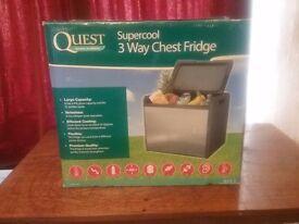 3 Way Chest fridge 45lt. capacity new still in box will run on gas 12v or 240v