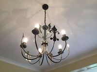 Lovely gothic-style metal chandelier
