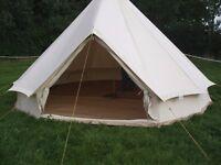 5m Bell tent + full interior coir mat flooring