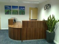Reception Desk in Walnut /Ref: 0413