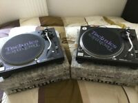 2 Turntables Technics & 2 needles Ortofon Pro S Brand New