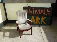 Lounge chair in grey very well made good condition Delivery Available £10