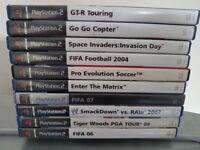 10 playstation 2 games (ps2)