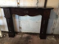 Solid mahogany fireplace surround in very good condition