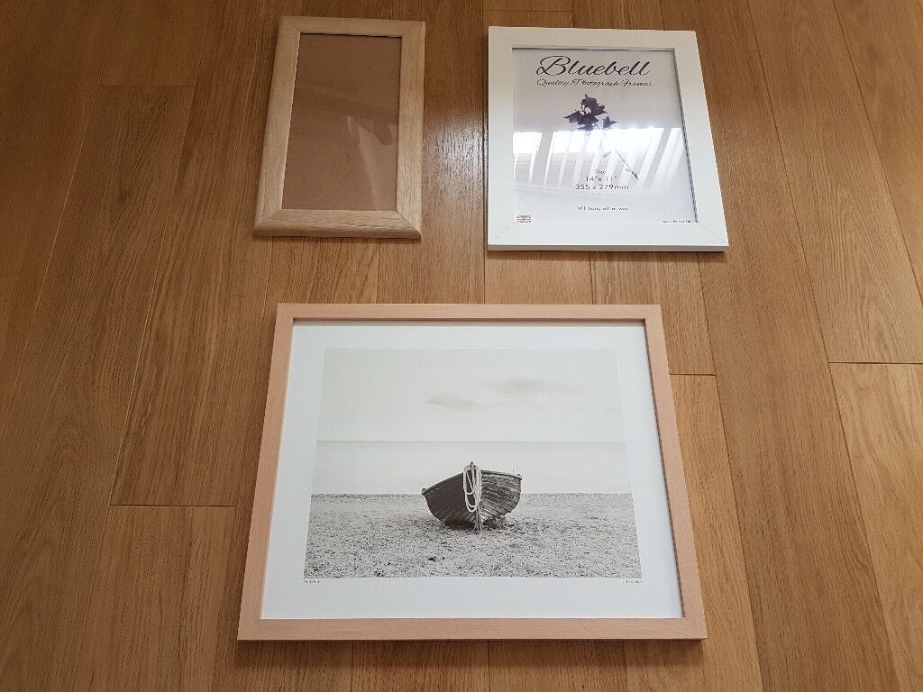 3 Wooden Picture / Photo Frames