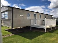 Caravan for sale with decking, Berwick holiday park, Near Haggerston castle holiday park & Eyemouth