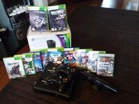 Xbox 360 kinnect and 12 games