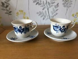 Two Gzhel tea cups