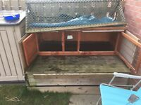 Rabbit Hutch with hand build extended run