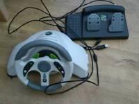 Xbox 360 MC2 Racing Wheel & Pedals