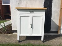 White Kitchen Cabinet with wheels - £15