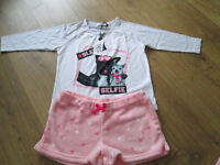 """GORGEOUS GIRLS BRAND NEW """"SELFIE"""" PJS SET - FROM NEW LOOK - SIZE M"""