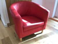 LOVELY RED TUB CHAIR VGC ONLY £10 (could poss delivery)
