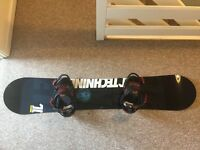 Technine T-Money 150cm snowboard and Union Flite bindings