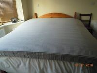Dunlopillo 12cm Latex mattress. Superking - 6ft x 6ft6ins. Grey stripe cover, Good clean condition.