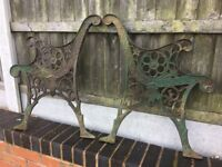 Original Heavy Cast Iron Garden Bench Ends / 4 Sets Available- can deliver