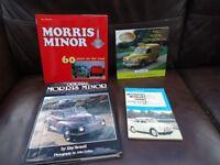 MORRIS MINOR BOOKS X 4 INC 2 X HARDBACK QUALITY BOOKS