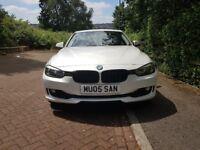 BMW 3 Series 318D 2013, Auto Pearl White, Low Mileage