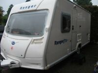 **BAILEY RANGER 460/4, FIXED BED 2008 4 BERTH CARAVAN, VERY LIGTHWEIGHT