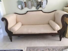 Cream Regency Sofa. Very good condition.