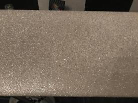 White glitter Pelmet