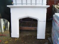 Stone effect fire surrounds c/w hearths