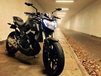 Yamaha MT-125 with £2000 of accessories and original parts included