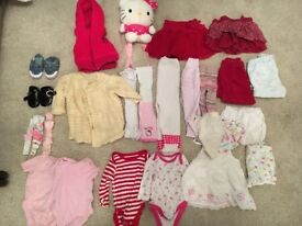BABY GIRL BUNDLE OF CLOTHES GAP H&M HAND KNITTED SKIRT CARDIGAN SHORTS 0 - 12 Months 1 Year